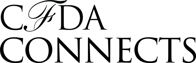 Black colored font of CFDA Connects logo